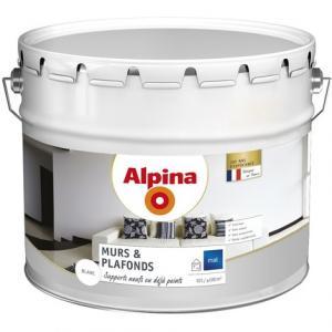 Peinture alpina murs plafonds 10l blanc mat