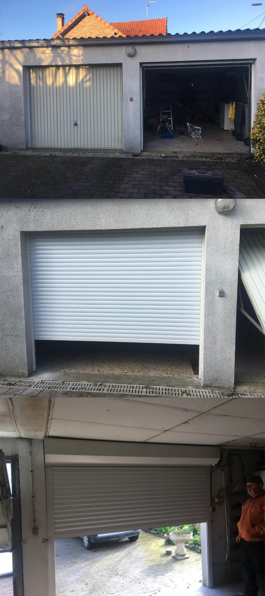 Remplacement d une premiere porte de garage
